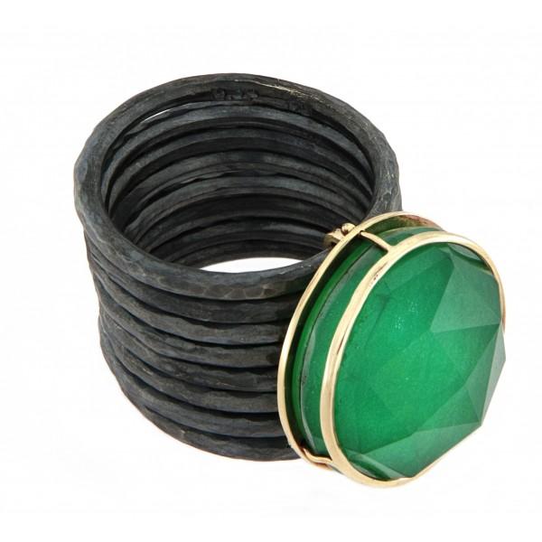 Ιδιόμορφο Δαχτυλίδι με Jade