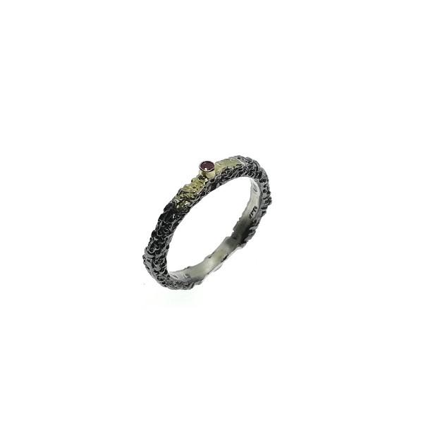 Δαχτυλίδι με Ρουμπίνι και χρυσό