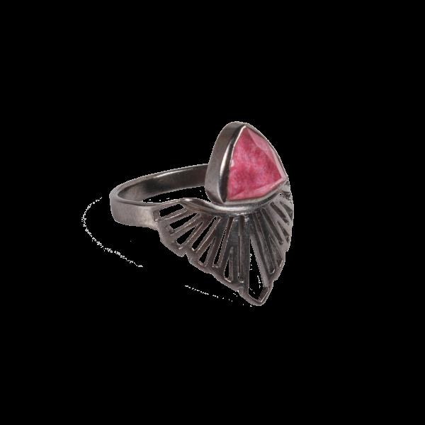 Ασημένιο Δαχτυλίδι με Ροδονίτη