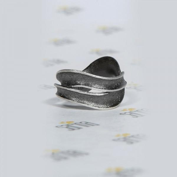 Ασημένιο Δαχτυλίδι Ροή