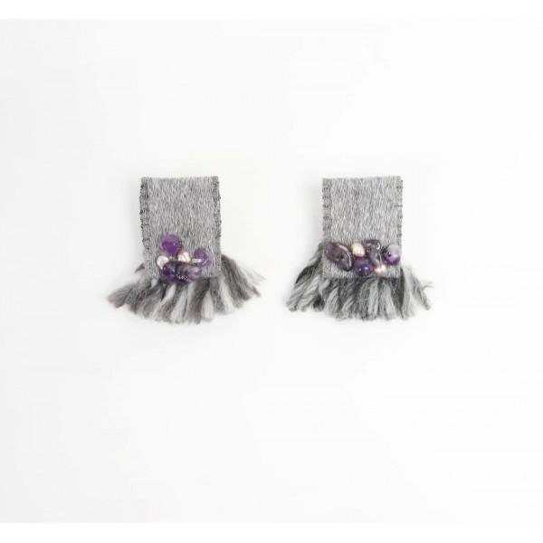 Anna Γκρι μικρά σκουλαρίκια