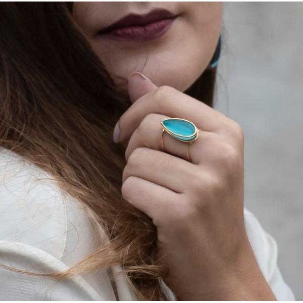 Δαχτυλίδι με Τιρκουάζ